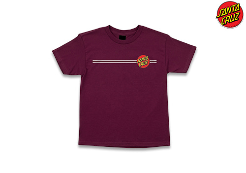 SANTACRUZ Classic Dot regular tee (burgundy)