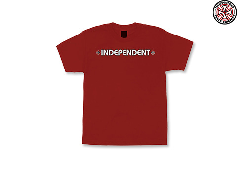 INDEPENDENT BAR/CROSS Youth tee (cardinal)