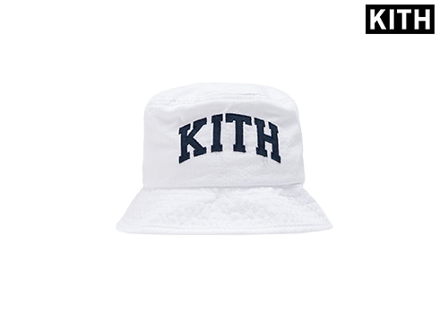 KITH KIDS SEERSUCKER BUCKET HAT (white)